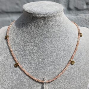 Sunstone Choker Femme Vibes 24k gold filled clasp and extender chain